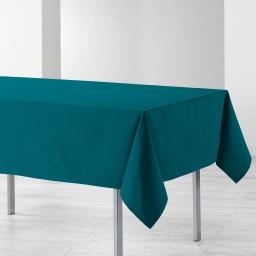 Nappe rectangle 140 x 240 cm coton uni ideale Bleu