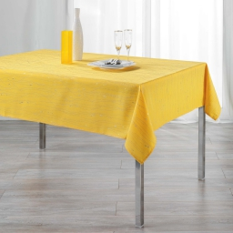 Nappe rectangle 140 x 240 cm polyester applique filiane Miel