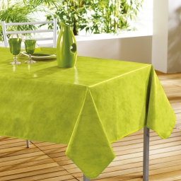 Nappe rectangle 140 x 240 cm pvc faux uni beton cire Jade