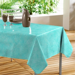 Nappe rectangle 140 x 240 cm pvc faux uni beton cire Ocean