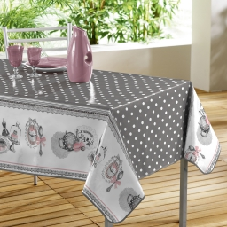nappe rectangle 140 x 240 cm pvc imprime brunch retro