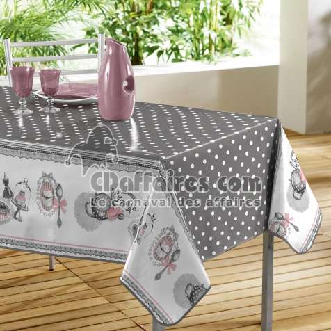 nappe rectangle 140 x 240 cm pvc imprime brunch retro cdaffaires. Black Bedroom Furniture Sets. Home Design Ideas