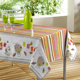 nappe rectangle 140 x 240 cm pvc imprime guinguette