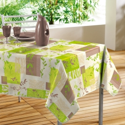 nappe rectangle 140 x 240 cm pvc imprime herbal