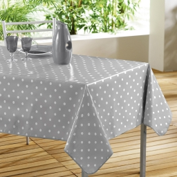Nappe rectangle 140 x 240 cm pvc imprime lollypop Gris/Blanc