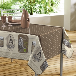 Nappe rectangle 140 x 240 cm pvc imprime reclames Choco