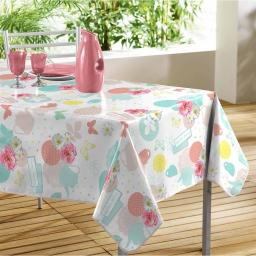 nappe rectangle 140 x 240 cm pvc imprime tea party