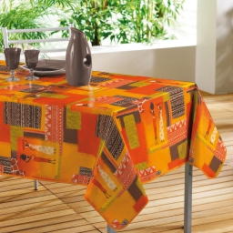 nappe rectangle 140 x 240 cm pvc imprime togo