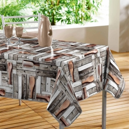 nappe rectangle 140 x 240 cm pvc photoprint cabanon