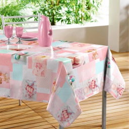 nappe rectangle 140 x 240 cm pvc photoprint delicia