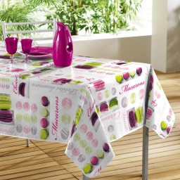 Nappe rectangle 140 x 240 cm pvc photoprint douceurs Prune