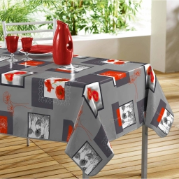 Nappe rectangle 140 x 240 cm pvc photoprint euphoria Gris
