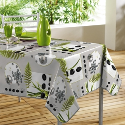 nappe rectangle 140 x 240 cm pvc photoprint jardin zen