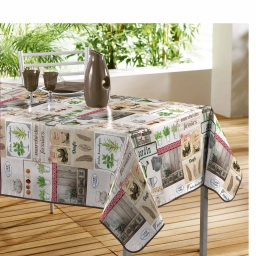 nappe rectangle 140 x 240 cm pvc photoprint marche fermier