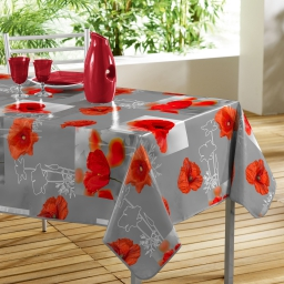 Nappe rectangle 140 x 240 cm pvc photoprint matinale Gris