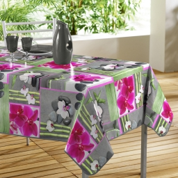 nappe rectangle 140 x 240 cm pvc photoprint orchidee