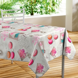 nappe rectangle 140 x 240 cm pvc photoprint sweet paris