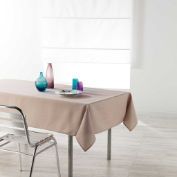 Nappe rectangle 140 x 250 cm chambray uni enduit newton Lin