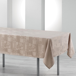 Nappe rectangle 140 x 250 cm jacquard damasse calice Lin
