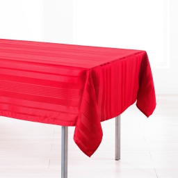 Nappe rectangle 140 x 250 cm jacquard damasse smart Rouge