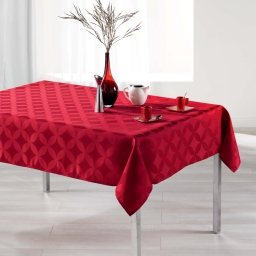 Nappe rectangle 140 x 250 cm jacquard tivolina Rouge
