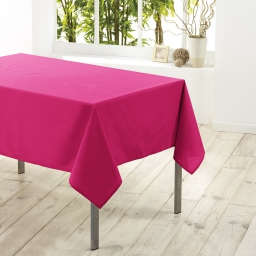 Nappe rectangle 140 x 250 cm polyester uni essentiel Fuchsia