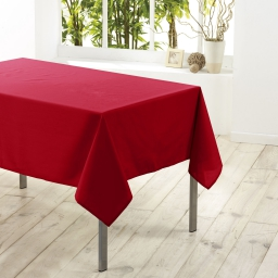Nappe rectangle 140 x 250 cm polyester uni essentiel Rouge