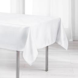 Nappe rectangle 140 x 250 cm shantung applique scintille Blanc