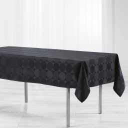 Nappe rectangle 140 x 300 cm jacquard damasse comete Noir