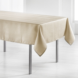 Nappe rectangle 140 x 300 cm jacquard damasse serpentile Or