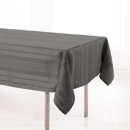 Nappe rectangle 140 x 300 cm jacquard damasse smart Anthracite