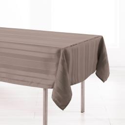 Nappe rectangle 140 x 300 cm jacquard damasse smart Taupe