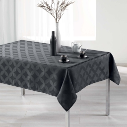 Nappe rectangle 140 x 300 cm jacquard tivolina Anthracite