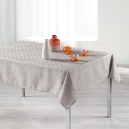Nappe rectangle 140 x 300 cm jacquard tokio Perle