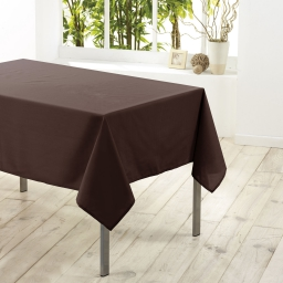 Nappe rectangle 140 x 300 cm polyester uni essentiel Brun