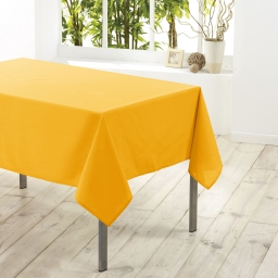 Nappe rectangle 140 x 300 cm polyester uni essentiel Jaune