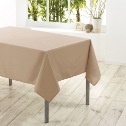 Nappe rectangle 140 x 300 cm polyester uni essentiel Lin