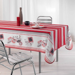 nappe rectangle 150 x 200 cm fils coupes imprime bistrot chic