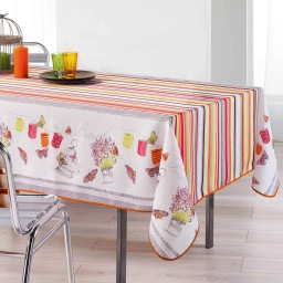 nappe rectangle 150 x 200 cm fils coupes imprime guinguette