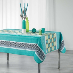 Nappe rectangle 150 x 200 cm polyester imprime amarella Vert