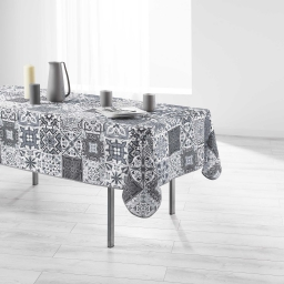 Nappe rectangle 150 x 200 cm polyester imprime persane Gris