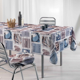 nappe rectangle 150 x 240 cm fils coupes imprime atlantis