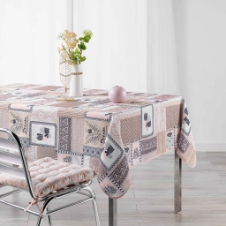 Nappe rectangle 150 x 240 cm fils coupes imprime carlota Gris