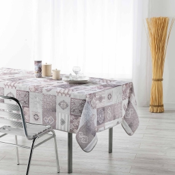 nappe rectangle 150 x 240 cm fils coupes imprime coeur dentelle