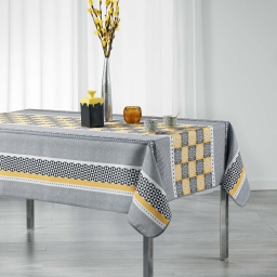 Nappe rectangle 150 x 240 cm polyester imprime amarella Gris