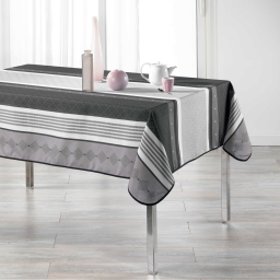 Nappe rectangle 150 x 240 cm polyester imprime atrium Anthracite