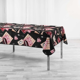 nappe rectangle 150 x 240 cm polyester imprime au bistrot