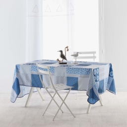 nappe rectangle 150 x 240 cm polyester imprime azuli