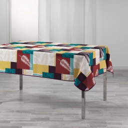 Nappe rectangle 150 x 240 cm polyester imprime caloum Jaune
