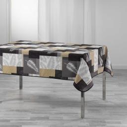 Nappe rectangle 150 x 240 cm polyester imprime caloum Noir